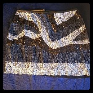 H&M fully sequined and beaded skirt